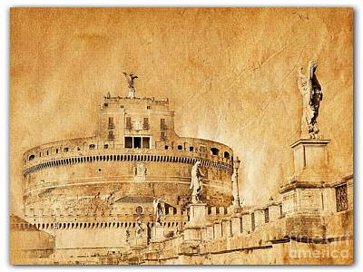 Angels Bridge And Castle Print by Stefano Senise