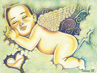 Angels In The Sky Print by Teleita Alusa