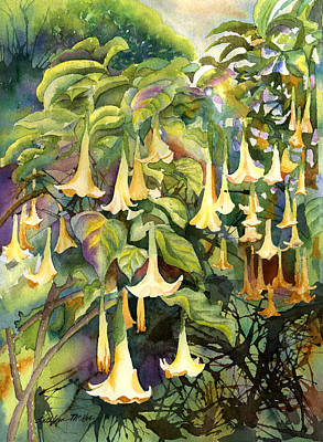 Datura Painting - Angels Trumpet by Kathleen McGee