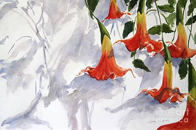Trumpet Painting - Angel's Trumpet by Kyong Burke
