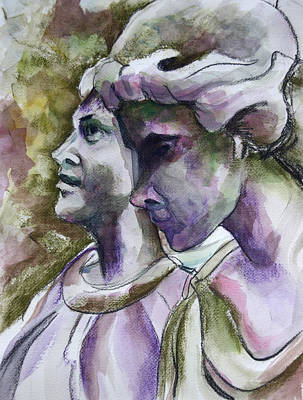 Angels Watching Over Print by Janet Felts