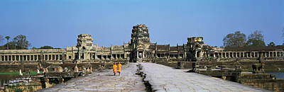 Buddhist Monks Photograph - Angkor Wat Cambodia by Panoramic Images