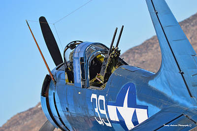 Planes Of Fame Photograph - Angle On The Dauntless by Tommy Anderson