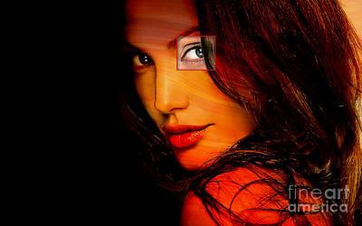 Portrait Mixed Media - Angleina Jolie by Marvin Blaine