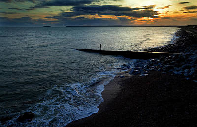 Angling Photograph - Angling From A Slipway,youghal,county by Panoramic Images