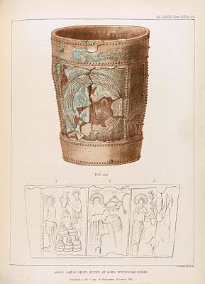 Christian Sacred Photograph - Anglo-saxon Stoup by Middle Temple Library