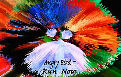 Anger Digital Art - Angry Bird by Terril Heilman