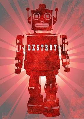 Angry Robot Print by Dan Sproul