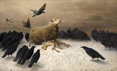 Anguish Print by August Friedrich Schenck