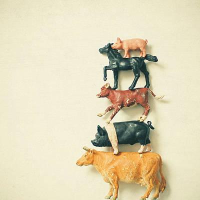 Kids Art Photograph - Animal Antics by Cassia Beck