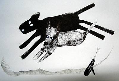 Grasshopper Drawing - Animal Design 121022-4 by Aquira Kusume