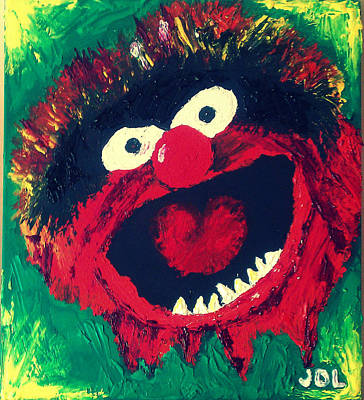 Muppets Painting - Animal by James Layton