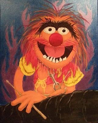 Muppets Painting - Animal by Jason Kopczick