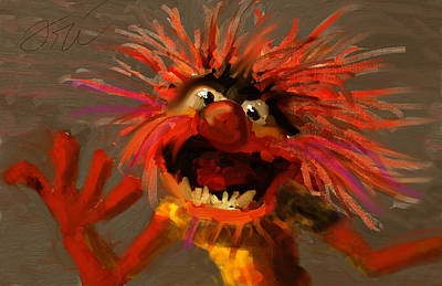 Muppets Painting - Animal by Ori Bengal