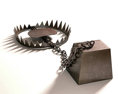 Animal Trap And Weight Print by Ktsdesign