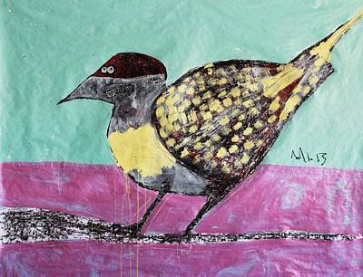 Crayons Mixed Media - Animalia Avis No.7 by Mark M  Mellon