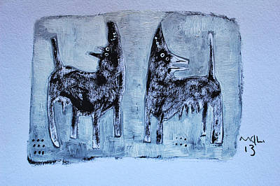 Animalia Canis No. 1 Print by Mark M  Mellon