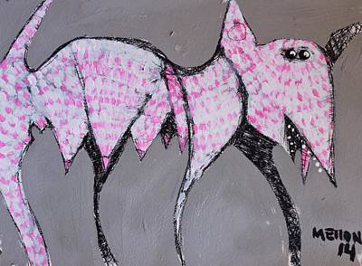 Painting - Animalia Canis With Pink Dots  by Mark M  Mellon
