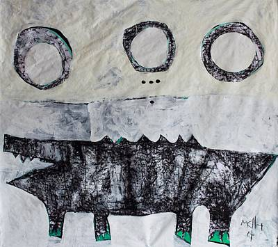 Crocodile Mixed Media - Animalia Cocodrillus No. 3 by Mark M  Mellon