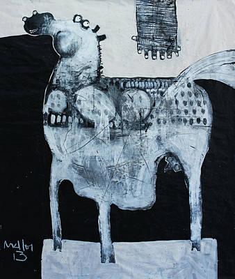 Playful Mixed Media - Animalia  Equos No 4 by Mark M  Mellon