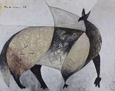 Animalia Howling Coyote Original by Mark M  Mellon