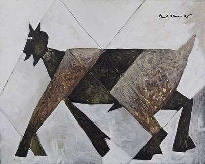 Goat Mixed Media - Animalia Walking Goat  by Mark M  Mellon