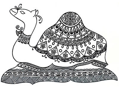 Camel Drawing - Animals Camel 2 by Neeti Goswami