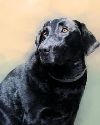 Black Dog Digital Art - animals - dogs- Loyal Friend by Ann Powell