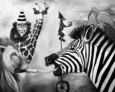 Zebra Painting - Animals Gone Wild Edit 3 by Leah Saulnier The Painting Maniac