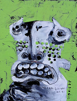 Lime Mixed Media - Animus No 10 by Mark M  Mellon