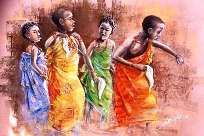 Painting - Ankara Manifest by Oyoroko Ken ochuko