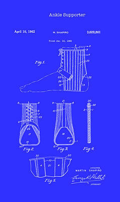 Wrap Drawing - Ankle Supporter Patent 1962 by Mountain Dreams