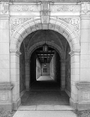 University Of Michigan Digital Art - Ann Arbor Michigan Archway by Phil Perkins