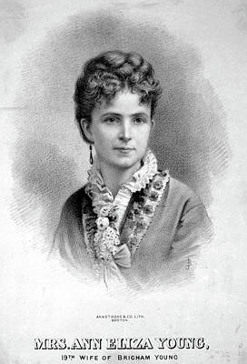 Eliza Painting - Ann Eliza Young (1844-1925) by Granger