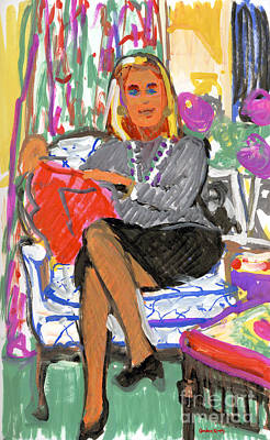 Ann Gleason In Chair Original by Candace Lovely