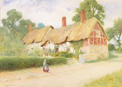 Stratford Painting - Ann Hathaway's Cottage by Arthur Claude Strachan