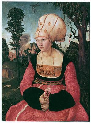 Anna Putsch First Wife Of Johannes Cuspinian Print by Lucas Cranach the Elder