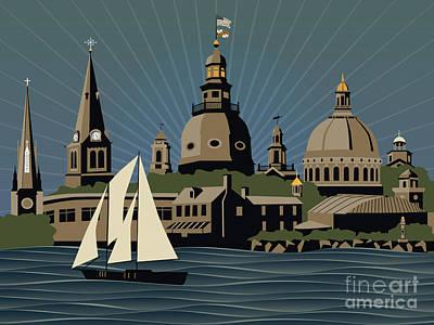 Annapolis Steeples And Cupolas Serenity Original by Joe Barsin