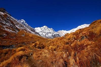 Annapurna South Ridge Print by FireFlux Studios