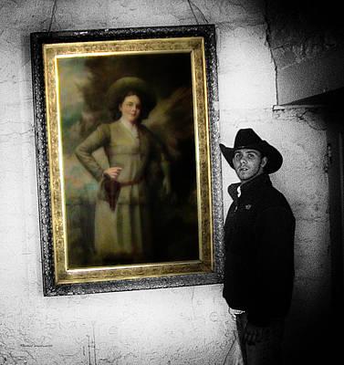 Annie Oakley With A Cowboy Print by Thomas Woolworth
