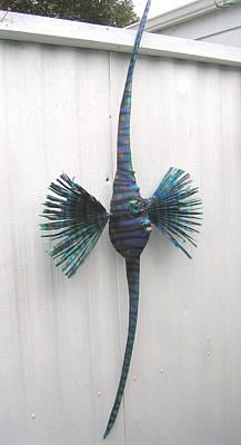 Palmfish Sculpture - Annie The Angel Fish by Dan Townsend