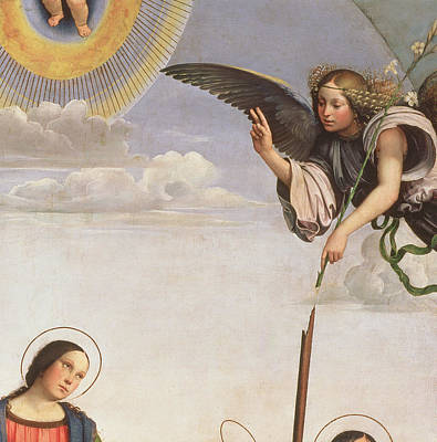 Blessings Painting - Annunciation And Saints, Detail Of The Archangel Gabriel, 1500 by Francia
