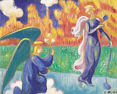 Annunciation Print by Emile Bernard