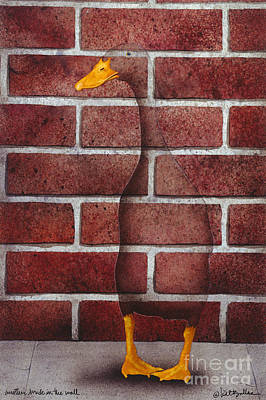 Another Brick In The Wall... Print by Will Bullas