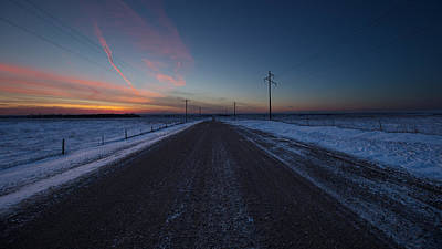 35mm Photograph - another Cold Road to Nowhere by Aaron J Groen