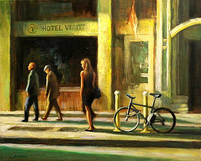 Painting - Another Day In New York City by Chin H  Shin