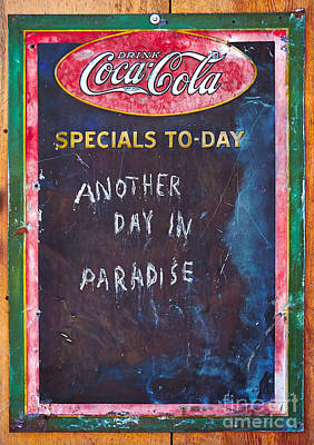 Coca-cola Sign Photograph - Another Day In Paradise by Matt Suess