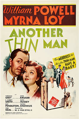 Another Thin Man, William Powell, Myrna Print by Everett