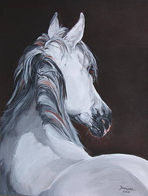 Horses Painting - Ansata El Naseri  by Janina  Suuronen