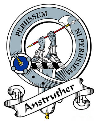 Anstruther Drawing - Anstruther Clan Badge by Heraldry
